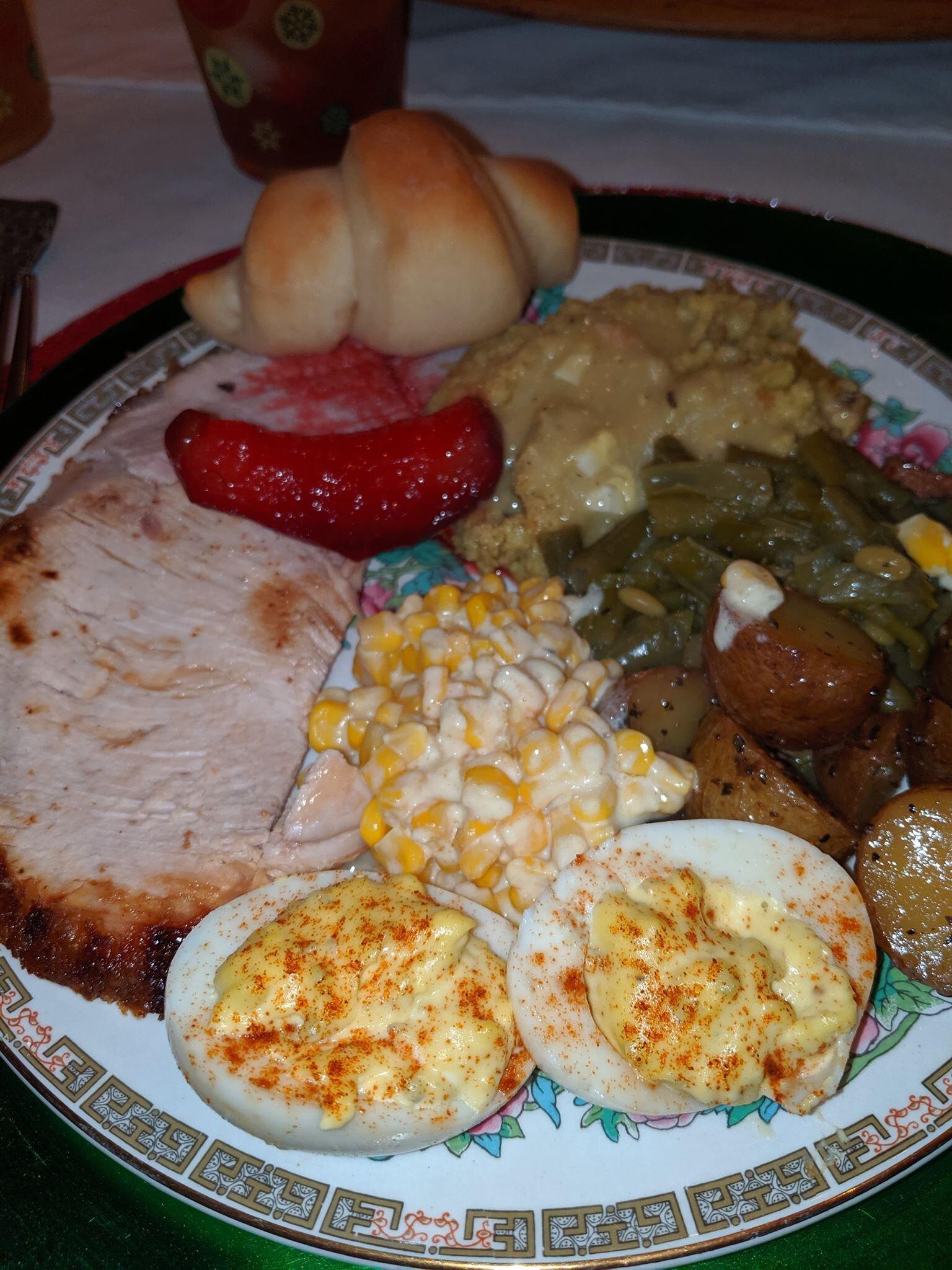 My Thanksgiving feast.
