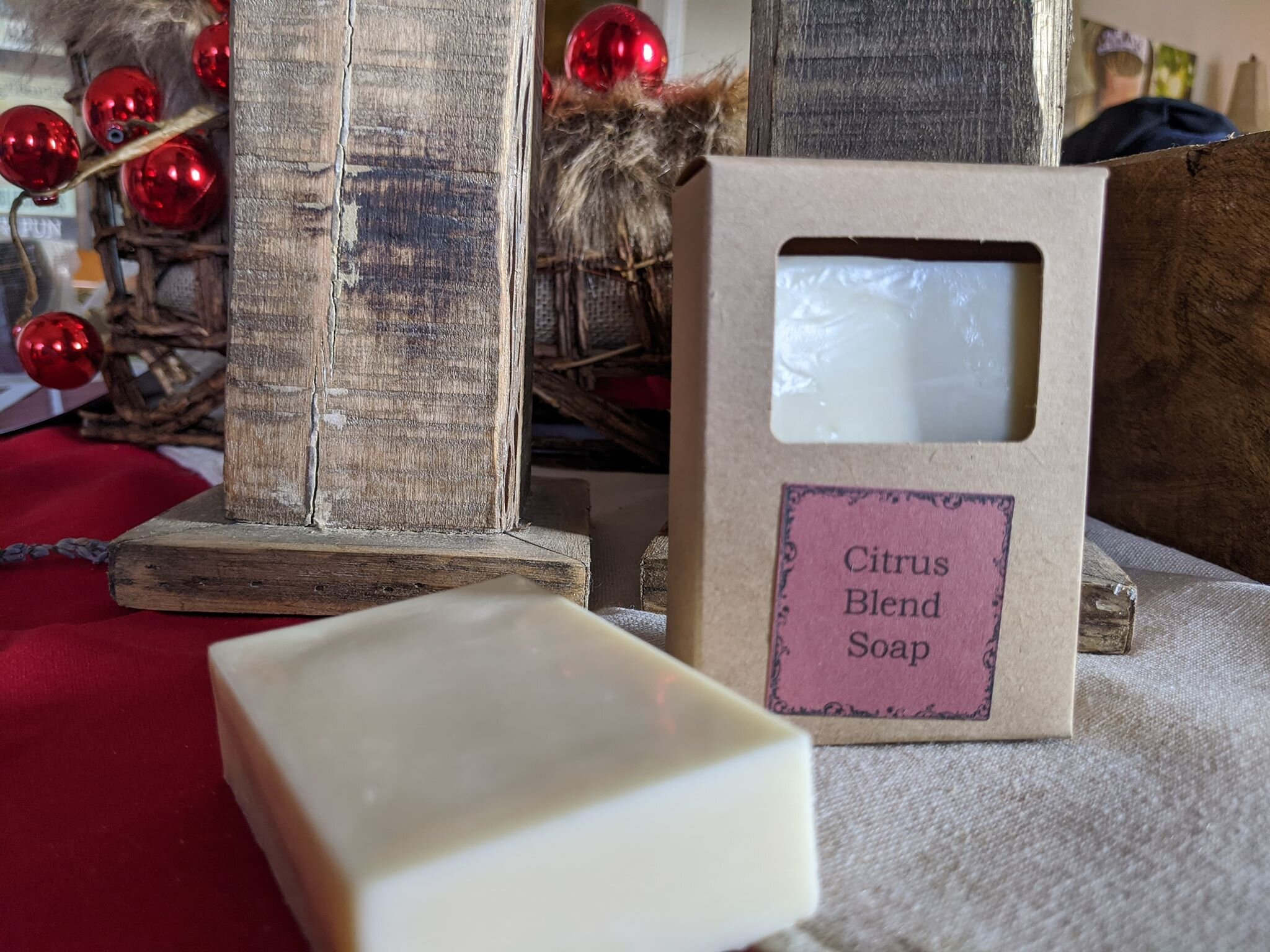 Citrus Blend Soap - The Simply Good Citrus Blend Soap is made using Goats milk with Grapefruit, Sweet Orange and Lemon Essential Oils.  This soap is designed to provide a clean, citrus smell that helps to reduce stress, lower blood pressure, reduce pain and helps with skin conditions such as acne.
