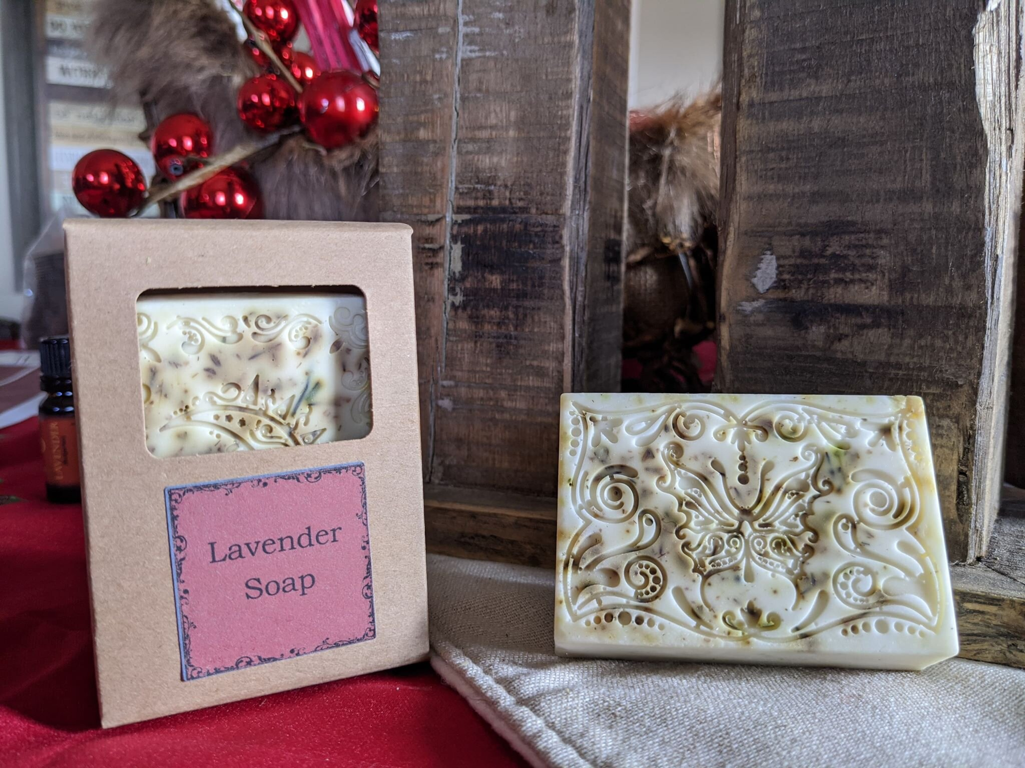 Lavender Soap - The Simply Good Lavender Soap is a beautiful bar of soap with real lavender and Bulgarian Lavender Essential Oil.  This soap is designed to promote stress relief, reduce stress and promote sleep.