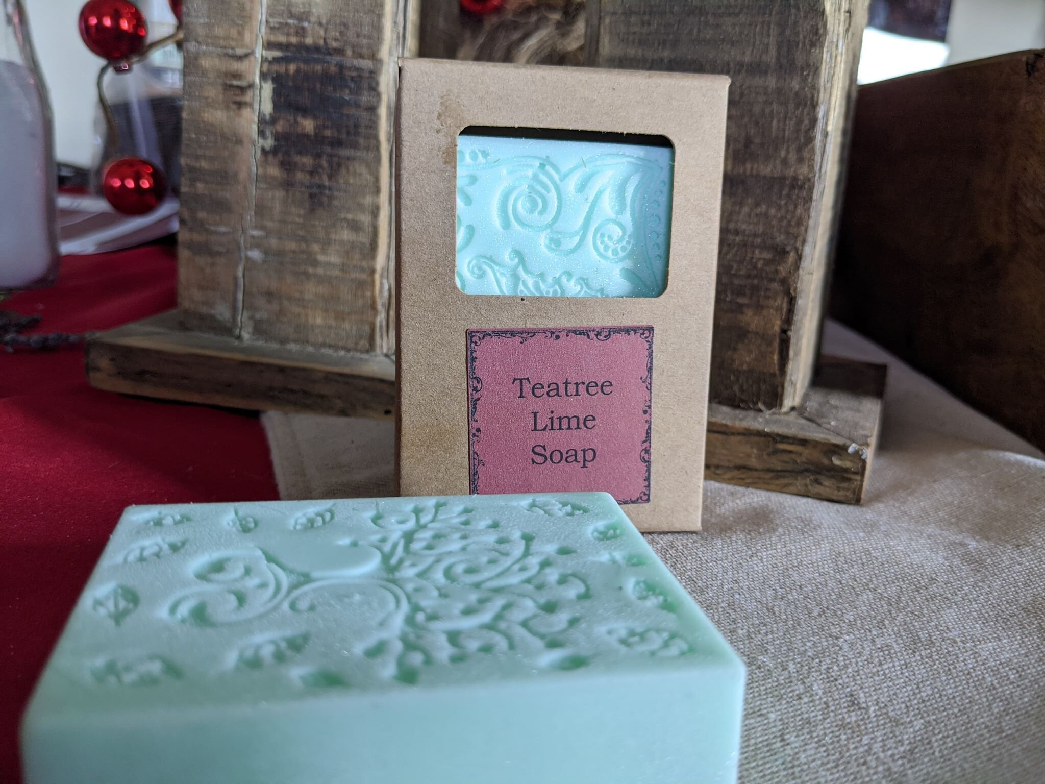 Teatree Lime Soap - The Simply Good Teatree Lime Goat's Milk Soap was designed to promote strong skin health while providing a refreshing scent.  Teatree and Lime Essential oils are used to treat acne, athlete's foot, contact dermatitis and even head lice while supporting a healthy immune system and working to tighten the skin.  This makes for a perfect bar to rejuvenate the skin.